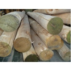 Chestnut Post Full Round 63mm Diameter sizes from 1050mm