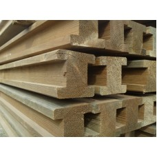 Wooden Slotted Post 2400 x 90 x 90mm