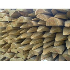 Peeled Post 1800 x 100-125mm Half Round